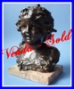 JOSEPH D'ASTE 1900's BRONZE OF A YOUNG GIRL SIGNED