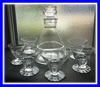BACCARAT CRYSTAL ART DECO LIQUOR SET DECANTER + 6 GLASSES