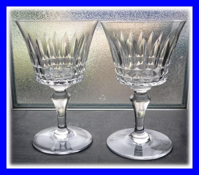 cristal baccarat 2 verres eau modele piccadilly. Black Bedroom Furniture Sets. Home Design Ideas