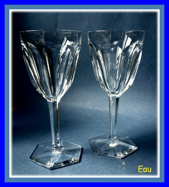 cristal baccarat compiegne 2 verres a eau. Black Bedroom Furniture Sets. Home Design Ideas