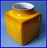 VASE RUELLAND CERAMIQUE DESIGN 1950 jaune orange