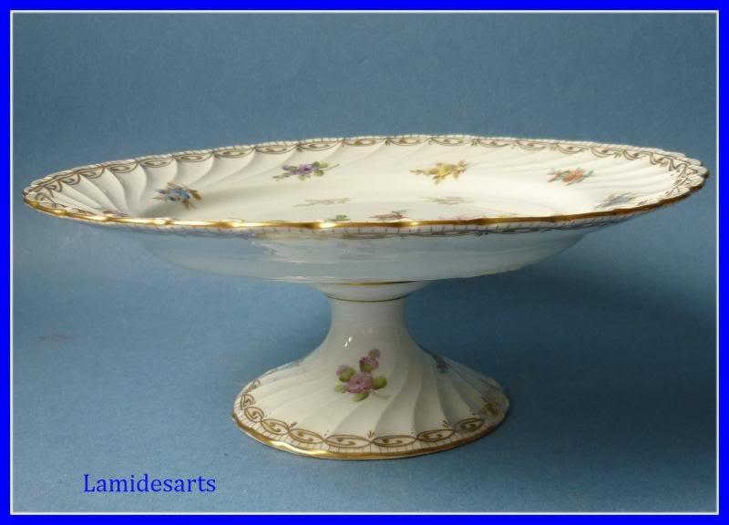 Compotier Porcelaine Saxe Allemagne Potschappel 1920 B