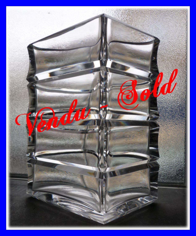 Vase Art Deco En Cristal De Baccarat