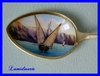 ENAMELED STERLING SILVER SPOON 1900 GENEVE