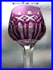 FRENCH SAINT LOUIS CRYSTAL RHINE WINE GLASS ROEMER PURPLE  stock: 1