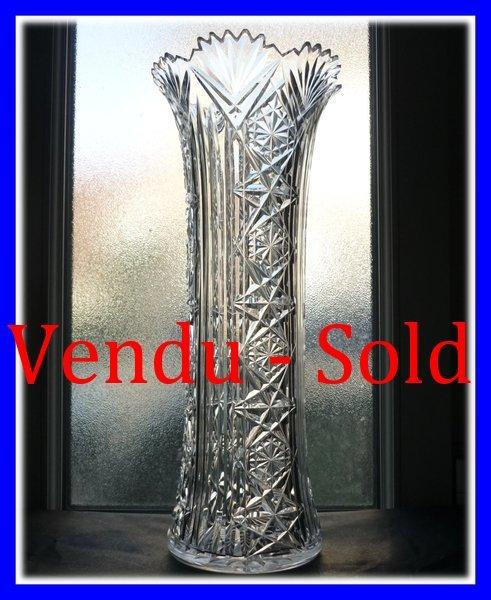 Baccarat Crystal Vase 1880
