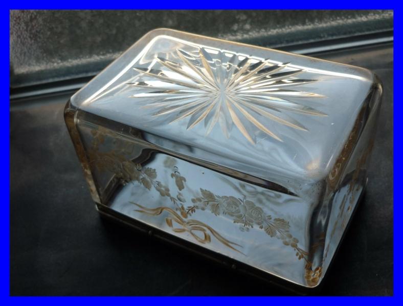 baccarat kristall und silber dose 1880. Black Bedroom Furniture Sets. Home Design Ideas