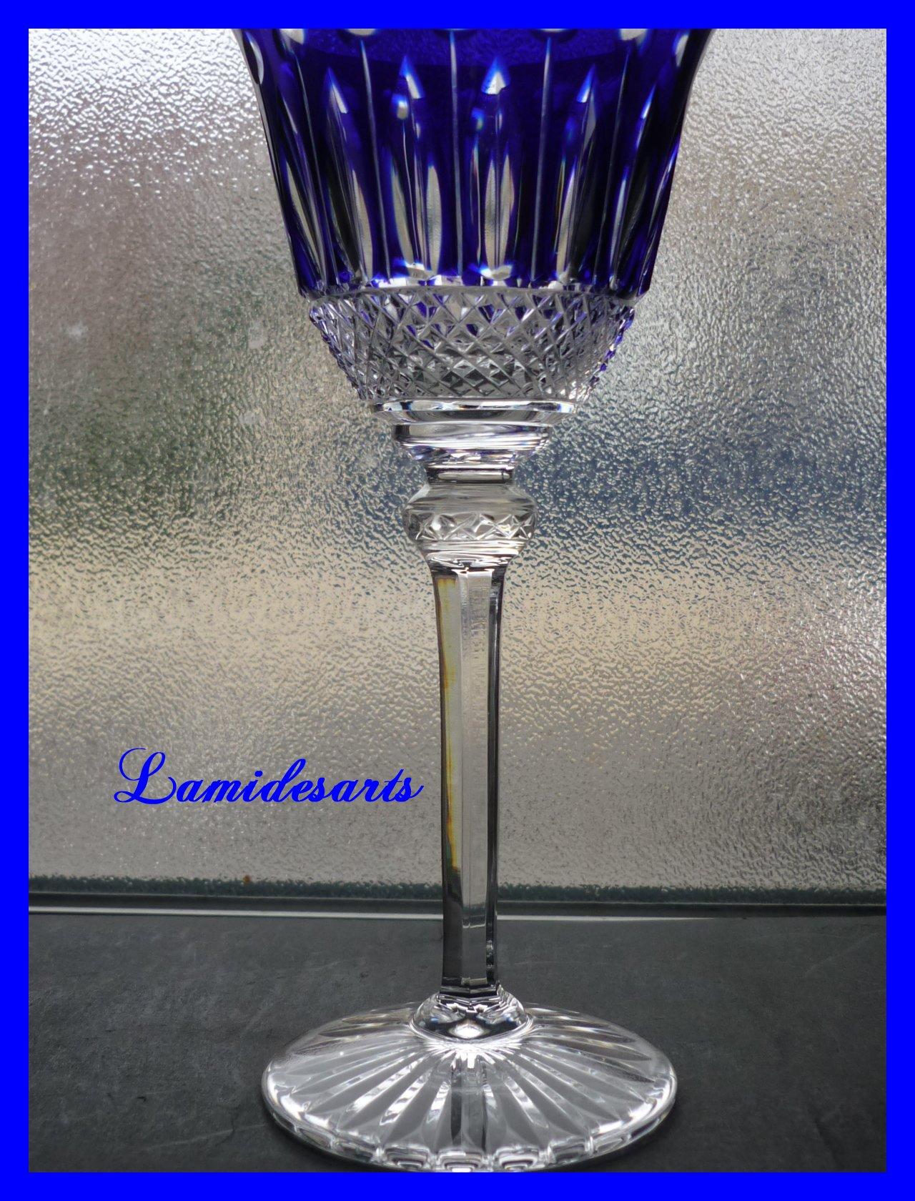 verre cristal de couleurs saint louis tommy 20 cm bleu. Black Bedroom Furniture Sets. Home Design Ideas