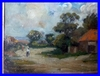 ANTIQUE PAINTING ENGLISH SCHOOL SUMMER LANSCAPE BY THE SEA ALFONSO TOFT 1916