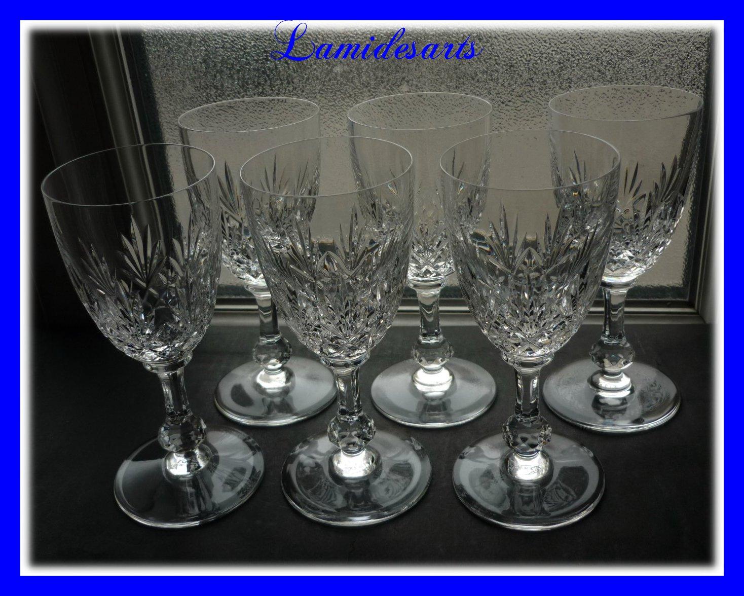 6 verre a vin en cristal de saint louis massenet 14 5 cm. Black Bedroom Furniture Sets. Home Design Ideas