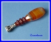 1850's FRENCH NAPOLEON III SEAL AGATE & STERLING SILVER