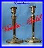 Pair of French antique bronze candlesticks 1800 -1830