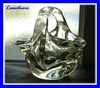 ANDRE THURET ART DECO GLASS SCULPTURE VASE BASKET 1940's