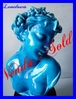ANTIQUE BLUE ENAMELED CERAMIC BUST OF A YOUNG GIRL Victoriano CODINA Y LANGLIN (1844-1911)