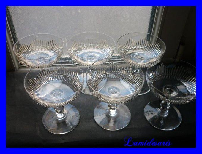 cristal de baccarat 6 coupe a vin de champagne jeux d orgue catalogue 1907. Black Bedroom Furniture Sets. Home Design Ideas