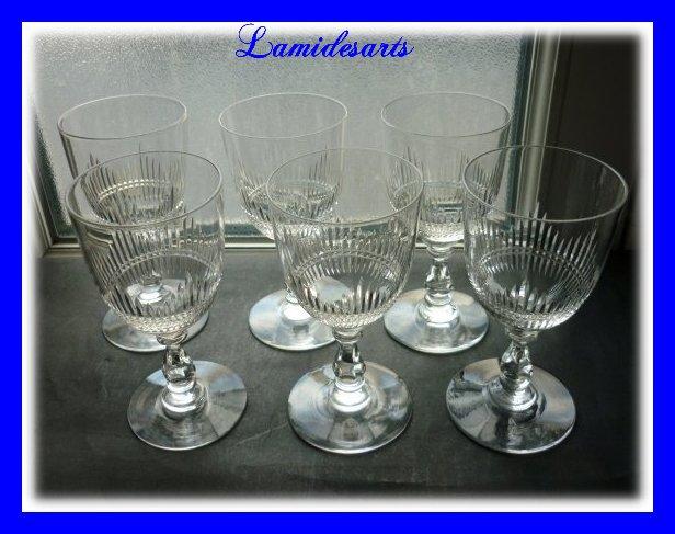 6 bicchieri di vino in cristallo baccarat catalogo del for Bicchieri cristallo