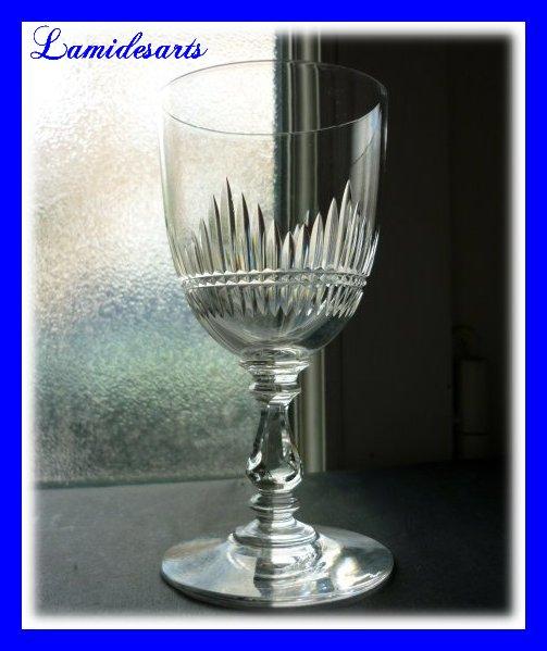 cristal de baccarat verre a vin taille jeux d orgue catalogue 1907 12 cm stock 0. Black Bedroom Furniture Sets. Home Design Ideas