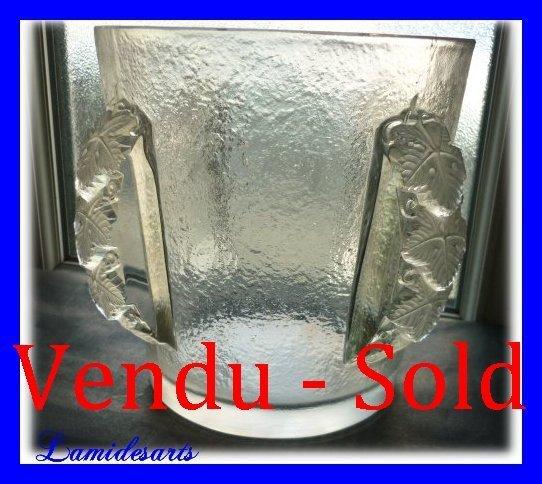Lalique Glass Vase Ice Bucket Epernay 1940 1950