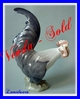 FIGURINE COQ PORCELAINE ROYAL COPENHAGUE COPENHAGEN  N° 1025 CHRISTIAN THOMSEN