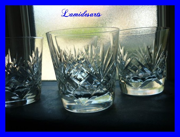 cristal de saint louis massenet 4 verres a whisky old fashion. Black Bedroom Furniture Sets. Home Design Ideas