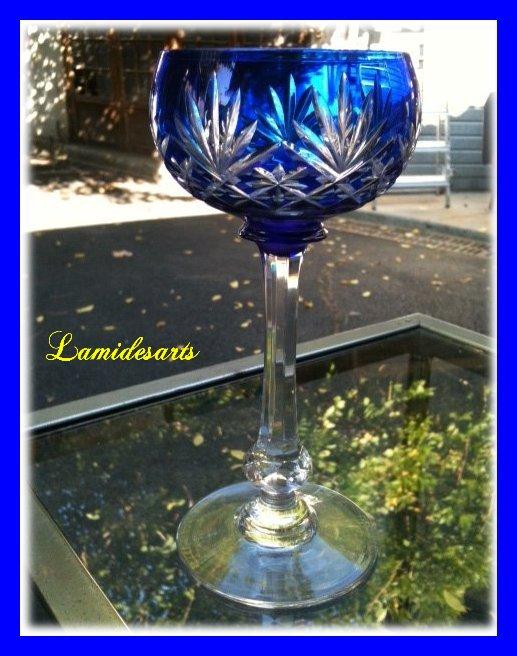 verre a vin du rhin en cristal de saint louis massenet bleu hauteur 16 5 cm diam 6 8 cm stock 0. Black Bedroom Furniture Sets. Home Design Ideas