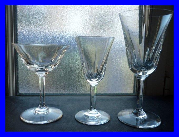 Saint Louis Crystal Cerdagne Pattern Champagne Glass 13 Cm