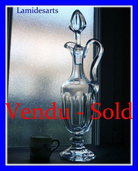 cristal de saint louis rare aiguiere carafe a vin modele chambord. Black Bedroom Furniture Sets. Home Design Ideas