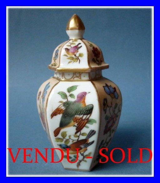 Antique Dresden Porcelain Vase 1900