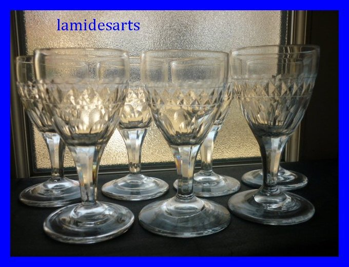6 verres a vin cristal baccarat le creusot 1830. Black Bedroom Furniture Sets. Home Design Ideas