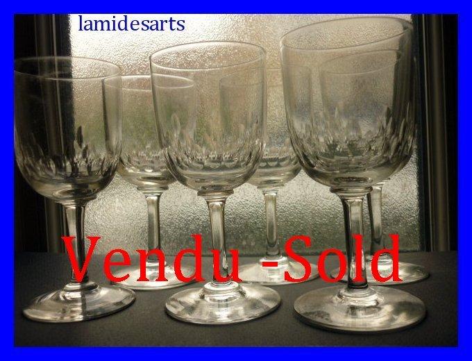 6 Wine Glasses Baccarat Richelieu Crystal 13 2 Cm Catalog 1916