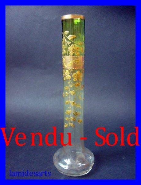Moser Karlsbad Enameled Glass Vase 1900 1920