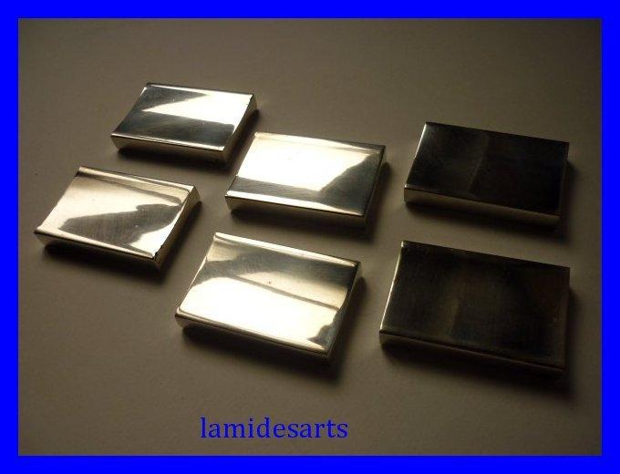 6 porte couteaux metal argente mellerio art deco 1950. Black Bedroom Furniture Sets. Home Design Ideas