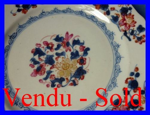 CHINESE PORCELAIN PLATE  circa 1800
