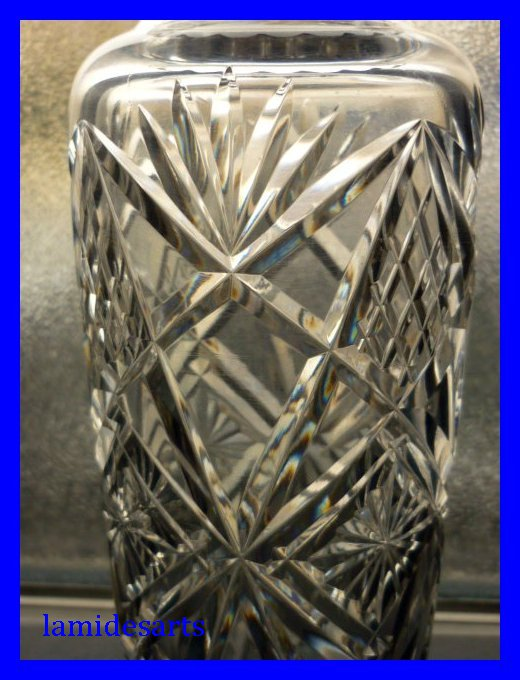 kristall vase von baccarat 1900 1916. Black Bedroom Furniture Sets. Home Design Ideas