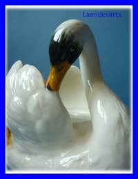 JEROME MASSIER VALLAURIS CERAMIC SWAN 1930