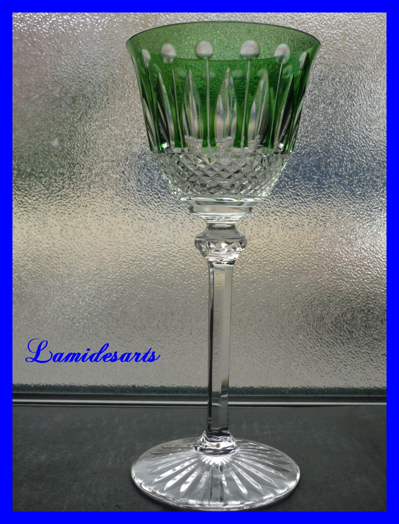verre roemer cristal de couleur saint louis tommy 20 cm vert. Black Bedroom Furniture Sets. Home Design Ideas