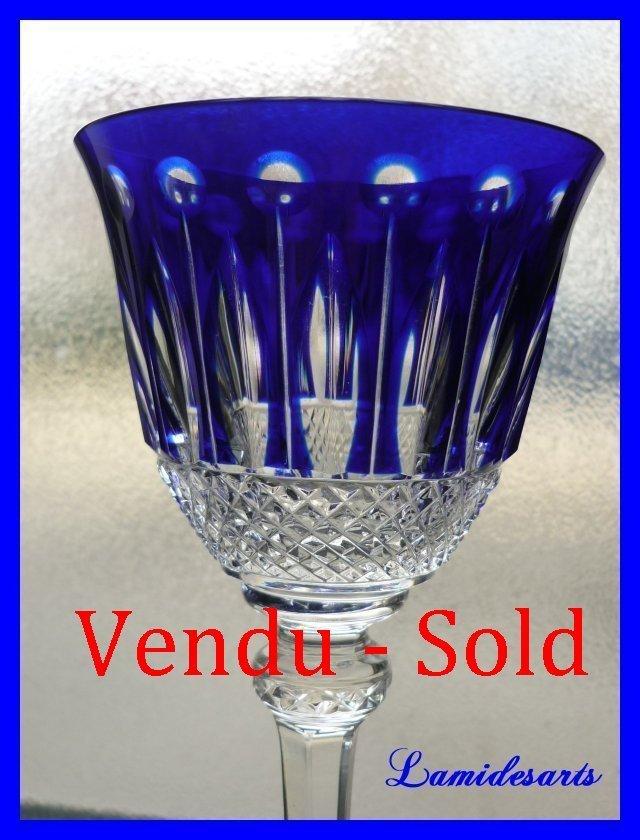 verre roemer cristal de couleur saint louis tommy 20 cm bleu. Black Bedroom Furniture Sets. Home Design Ideas