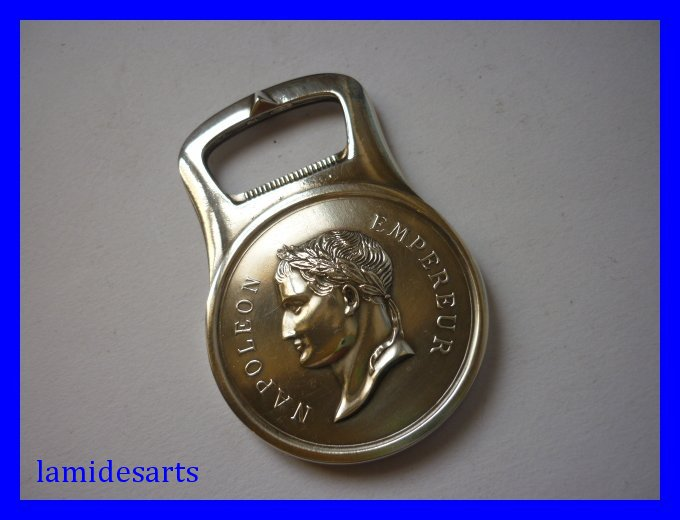 Can Bottle Opener Christofle Silver Plated Napoleon Emperor
