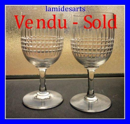 2 verres porto cristal de baccarat mod le nancy 10 9 cm stock 0 - Reparation verre cristal ...