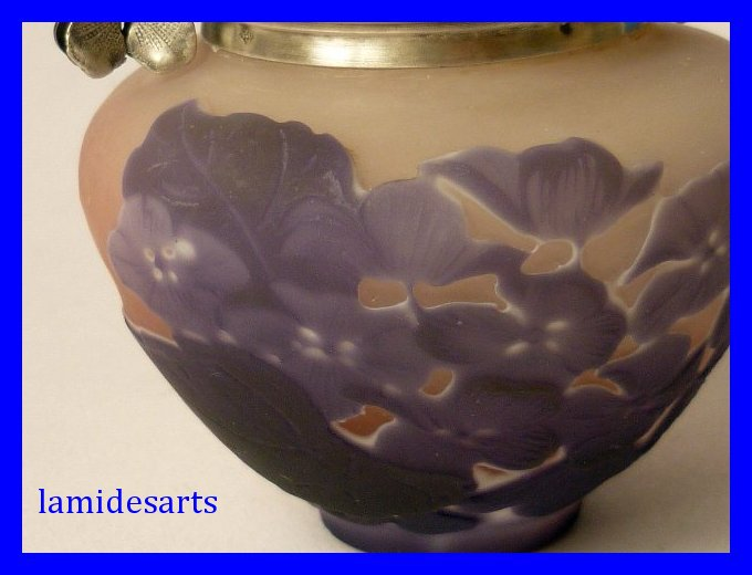 Vase Pate De Verre Emile Galle 1900 Monture Argent