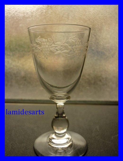 6 verres a porto cristal de baccarat vigne 1880. Black Bedroom Furniture Sets. Home Design Ideas