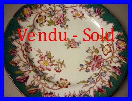 ASSIETTE SARREGUEMINES DECOR MINTON N°218