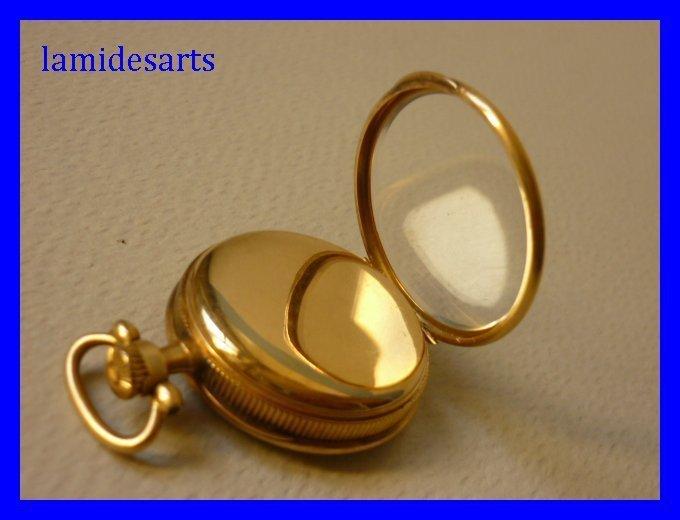 montre a gousset or 18 carats medaillon porte photo 1850. Black Bedroom Furniture Sets. Home Design Ideas