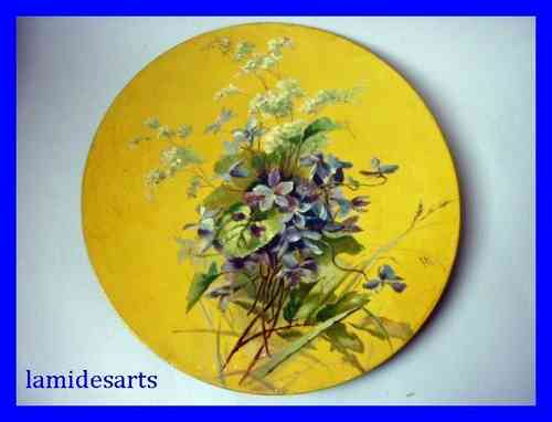 ANTIQUE PAINTING OIL ON BOARD flowers 1880 - 1920
