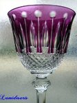 SAINT LOUIS TOMMY CRYSTAL GLASS ROEMER amethyst signed  stock: 2