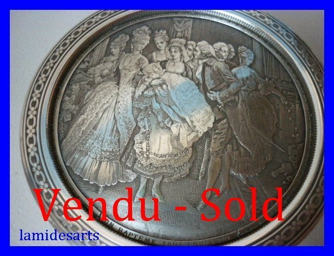 B Wicker S Silver Plated Engraved Candy Box 1920