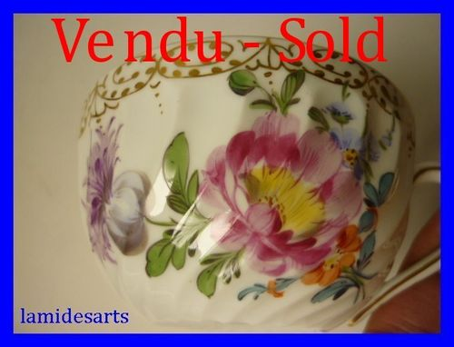 Tasse Porcelaine de Nymphenburg peint main 1900 c