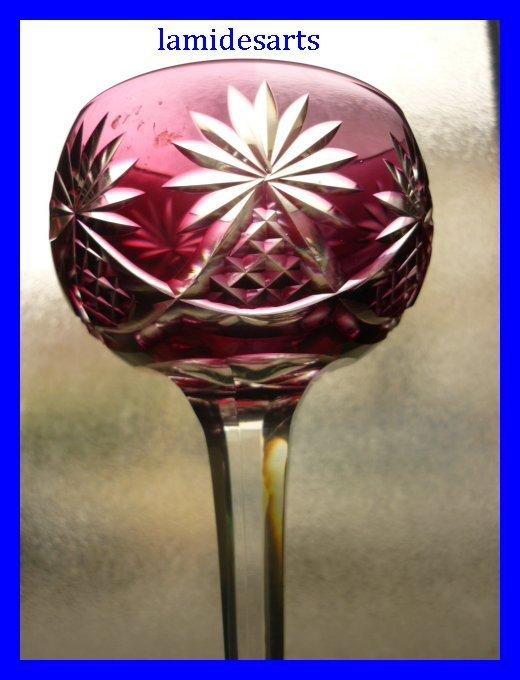 verre a vin du rhin roemer cristal de baccarat am thyste. Black Bedroom Furniture Sets. Home Design Ideas
