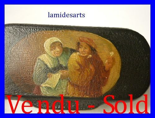 1880's SNUFF BOX WITH MINIATURE PAINTING