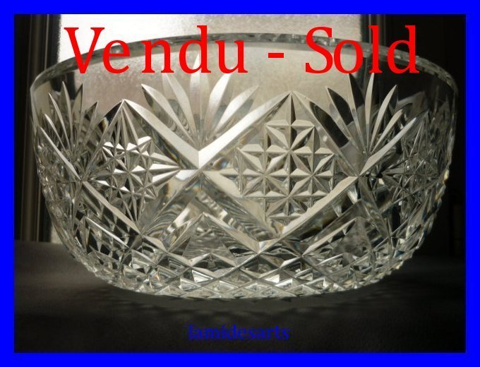 coupe saladier cristal saint louis musset 4 200 kg. Black Bedroom Furniture Sets. Home Design Ideas